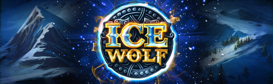 Top banner showing the icon of slot game Ice Wolf from Elk Studios