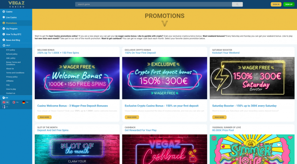 Why you should chose Spinia Casino